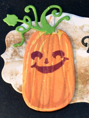 Halloween card pumpkin detail