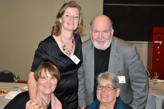 Marcia Frederick, Sylvia Muzzio, Alys and James Reber