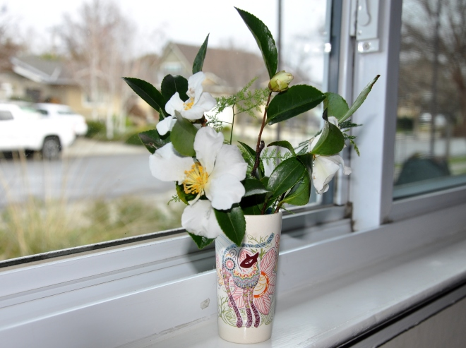Vase on window sill