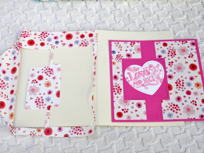 envelope lining reused in card