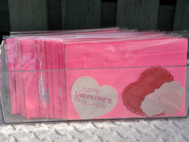 Card making kits for Valentine's Day