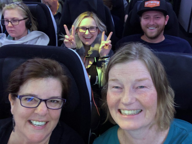 Air New Zealand flight with Laurie