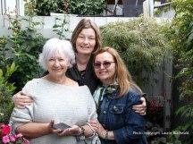 In Pauline's garden with Kelly