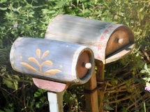 A pair of charming mailboxes