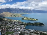 Looking down over Queenstown, New Zealand