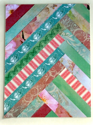 Strip quilting-styled card