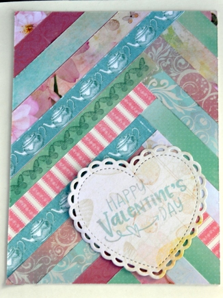 Strip quilts with heart, also made from a scrap of paper