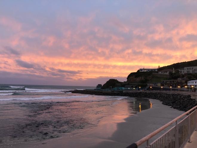 St. Claire Beach at sunset, Dunedin, New Zealand