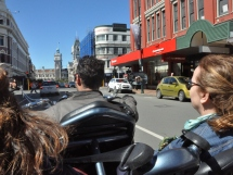 Trike ride through downtown Dunedin