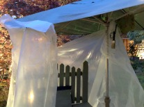 Make-shift rain tent