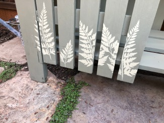 Stenciled ferns