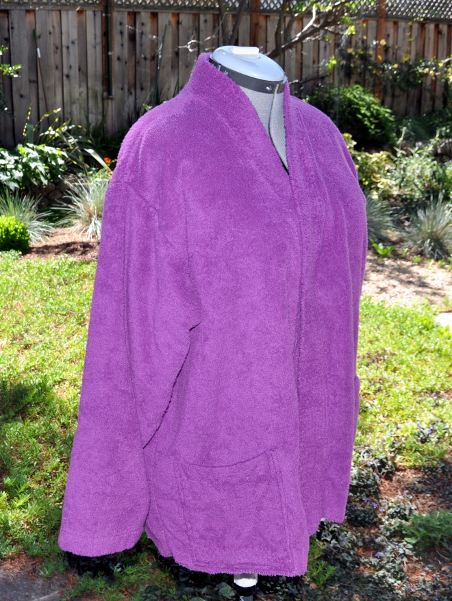 purple terry robe