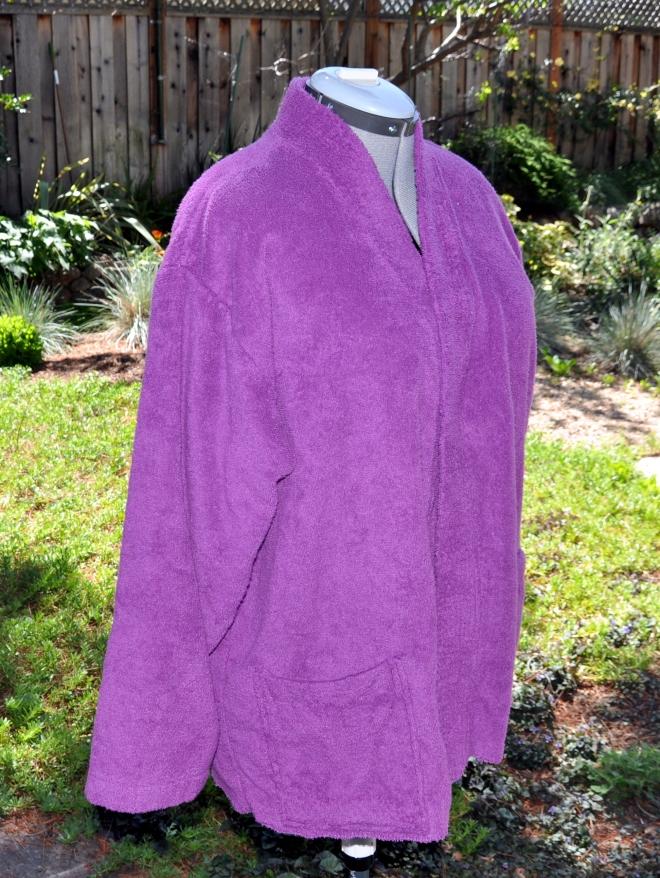 purple terry robe