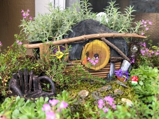 My miniature Hobbit garden in May, 2018
