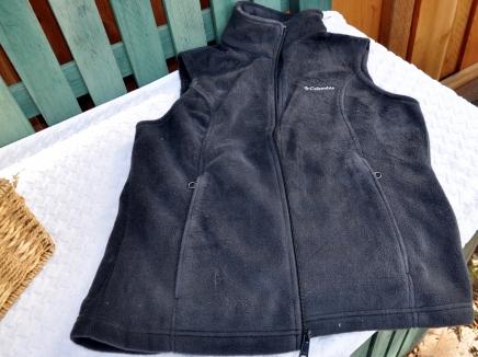 Velour vest for warmth