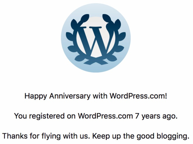 WordPress 7th anniversary