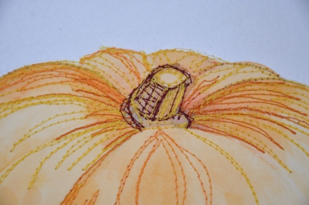 Anne Lawson: Stitched pumpkin peduncle