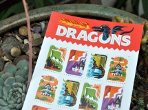 Dragons postage stamps