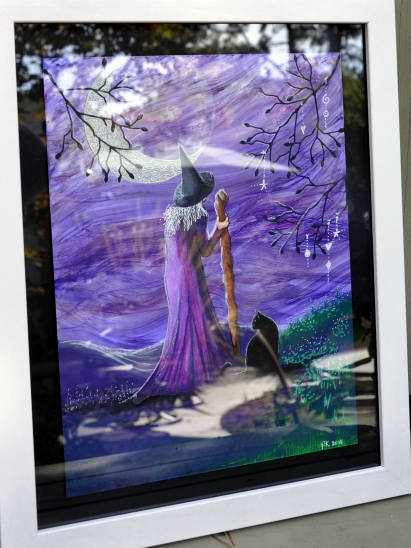 Pauline King: Mixed Media Art: The Wise Woman