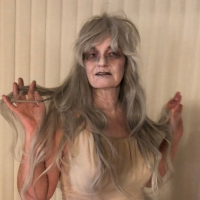 Ghostly hitchhiker costume