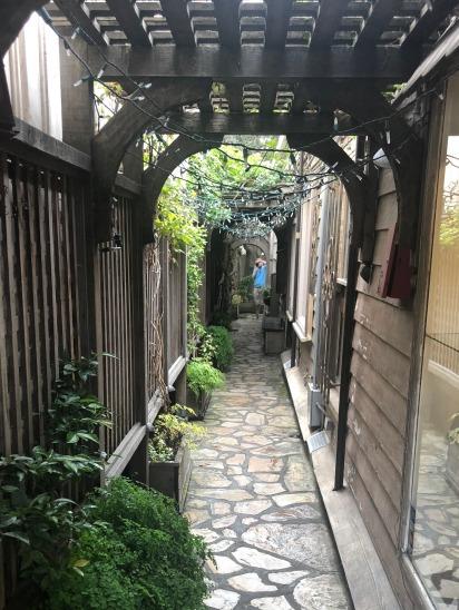 An alleyway in Carmel