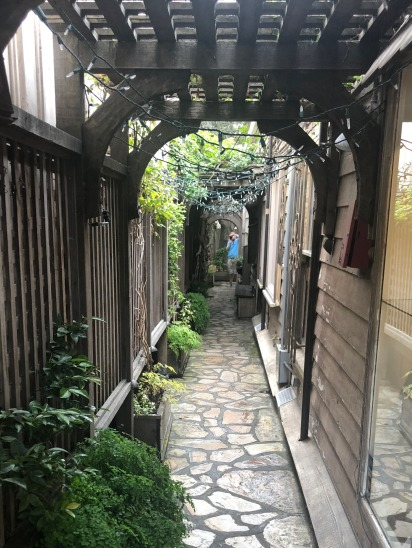 An alleyway in Carmel