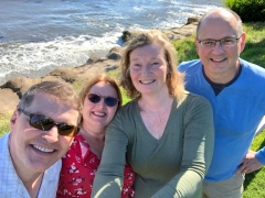 Posing for selfies near Pebble Beach