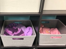 We have a number of knitting groups that donate hats and scarves
