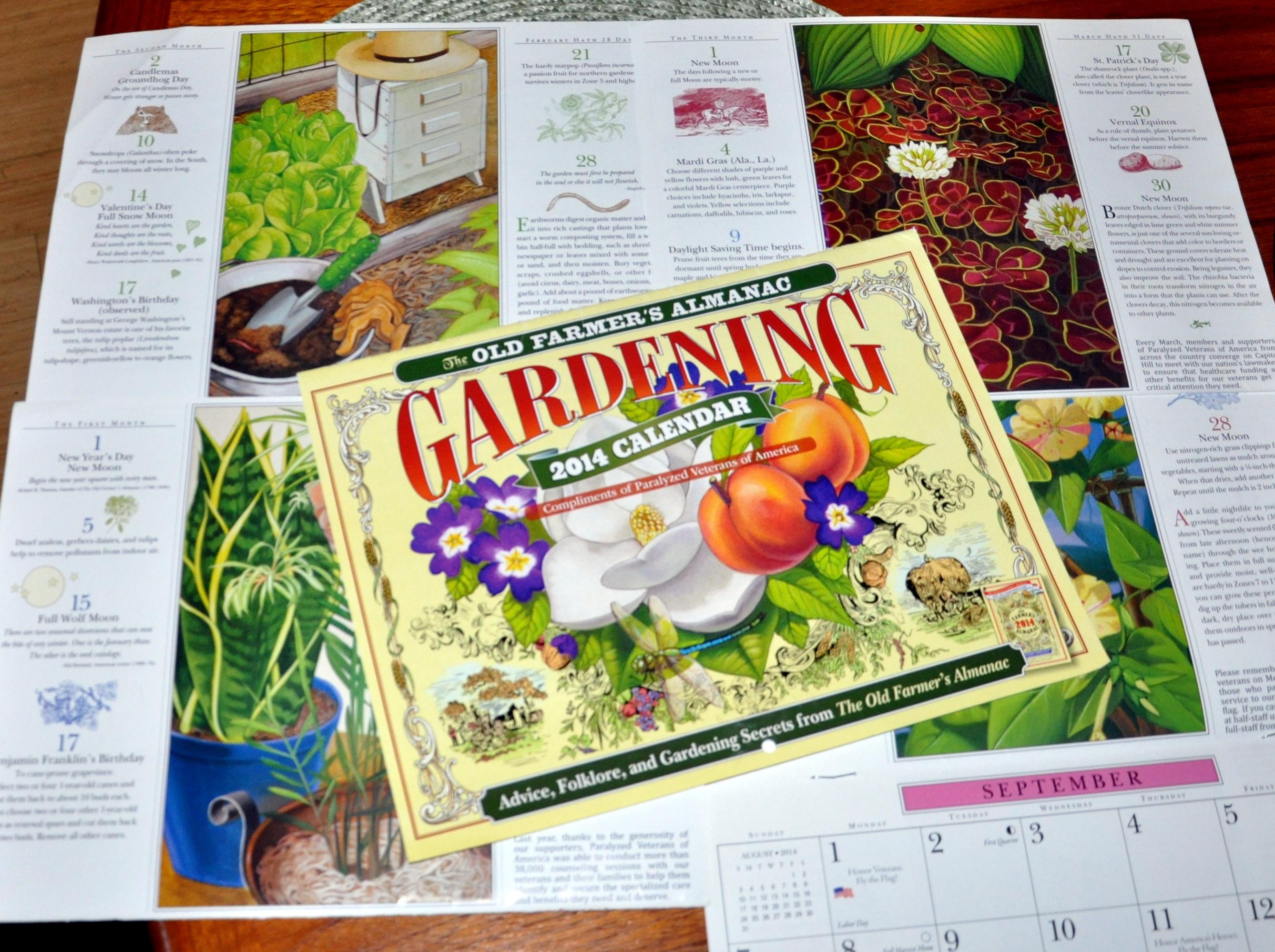 Born to organize gardening nirvana - Farmers almanac gardening calendar ...