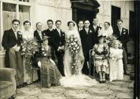 The wedding party. My father is the tall gentleman, third from the right