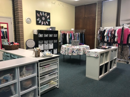 Remodeled boutique entry
