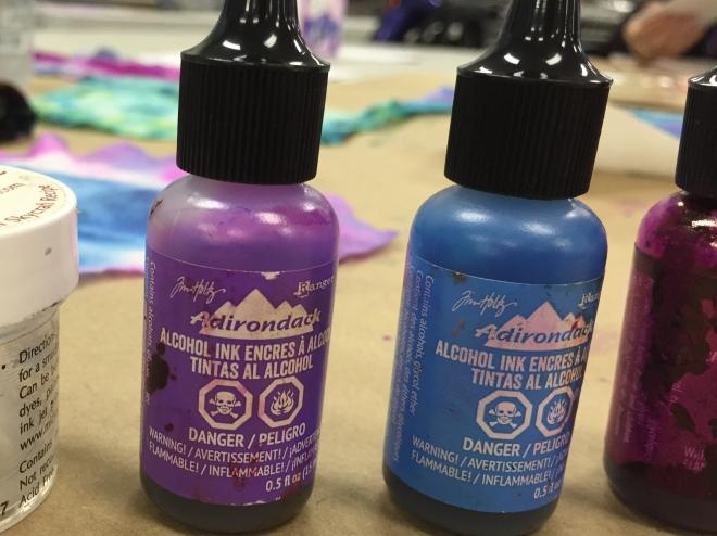 alchohol ink Tim Holtz baby wipes