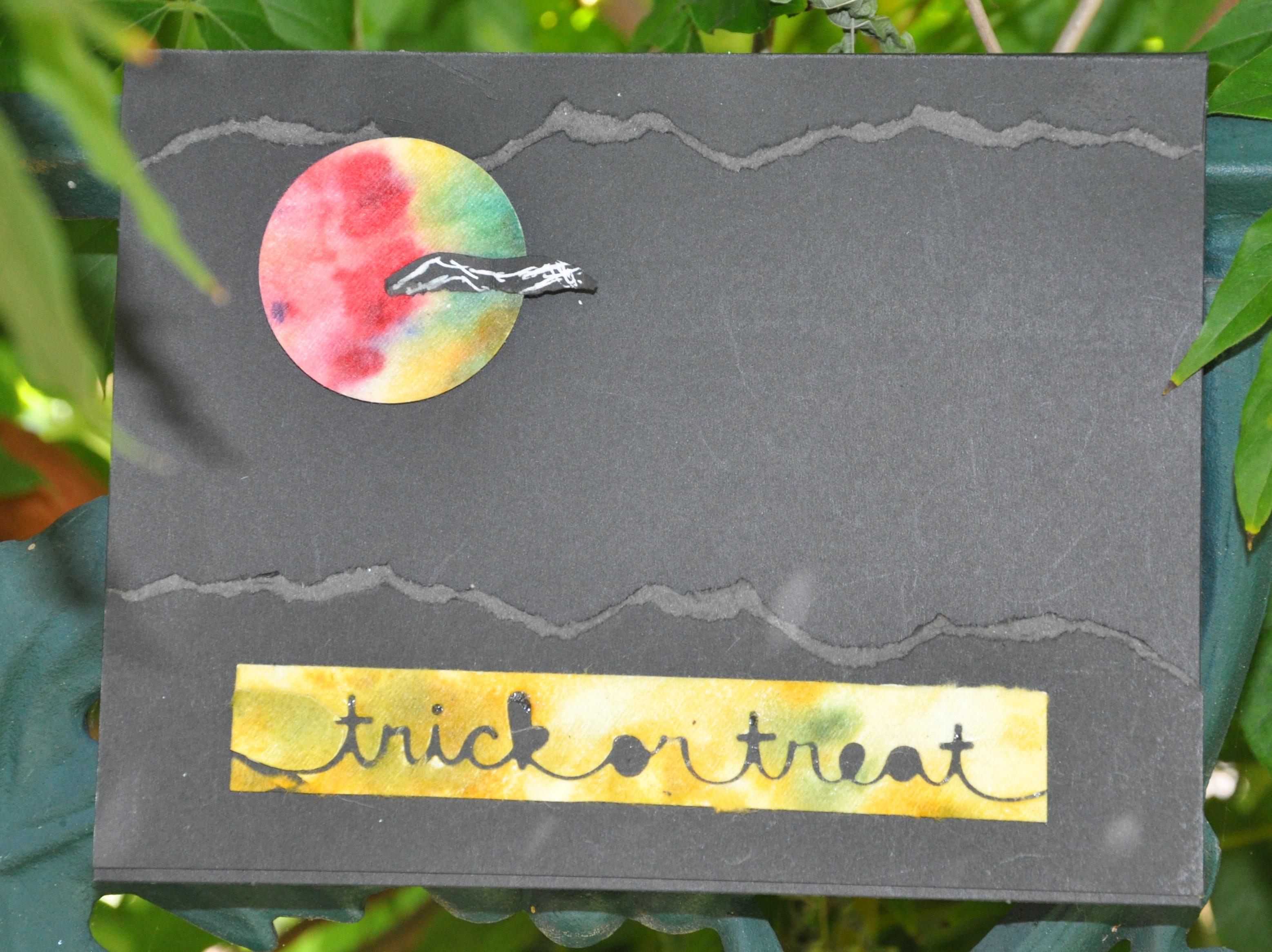 Halloween tie dye card