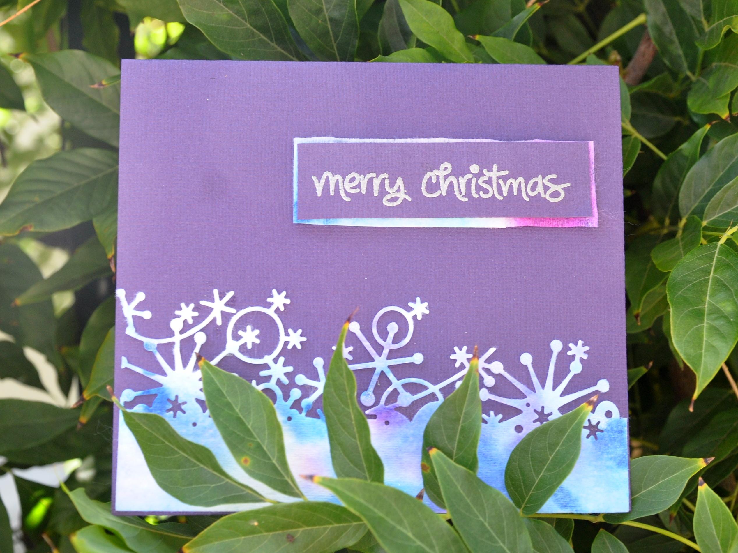 wet wipes merry christmas tie dye card