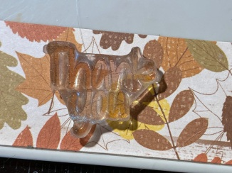 "Acrylic ""thank you"" stamp"
