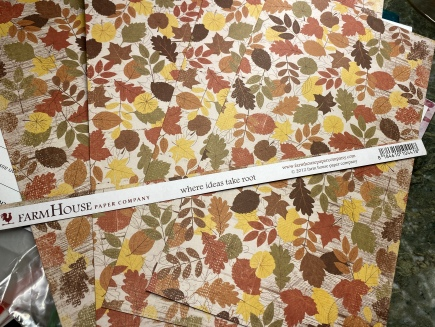 Two sheets of patterned paper