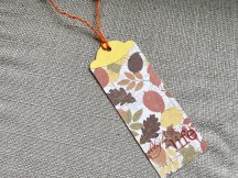 Bookmark made with the last scrap