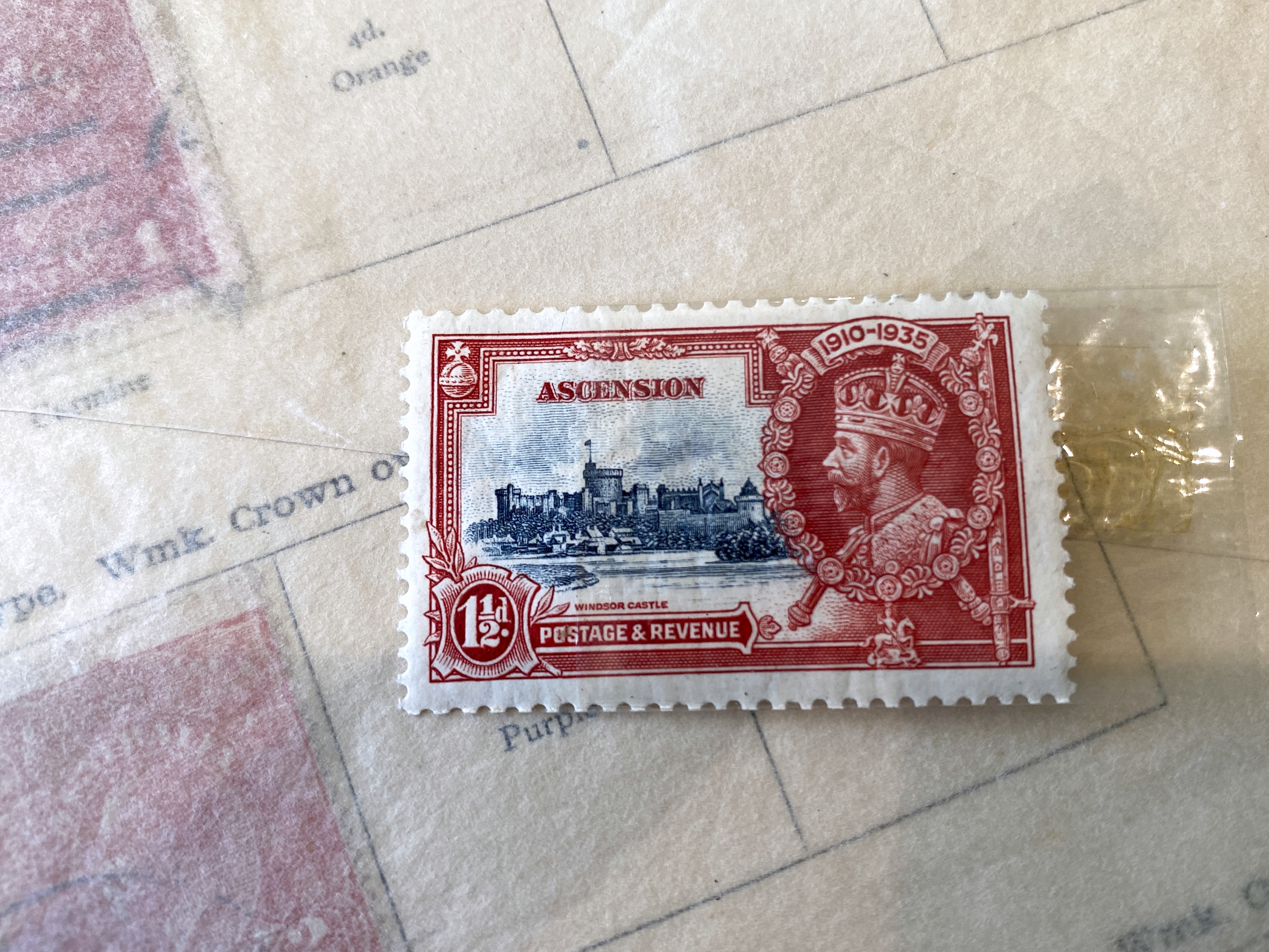 Ascension red postage stampl