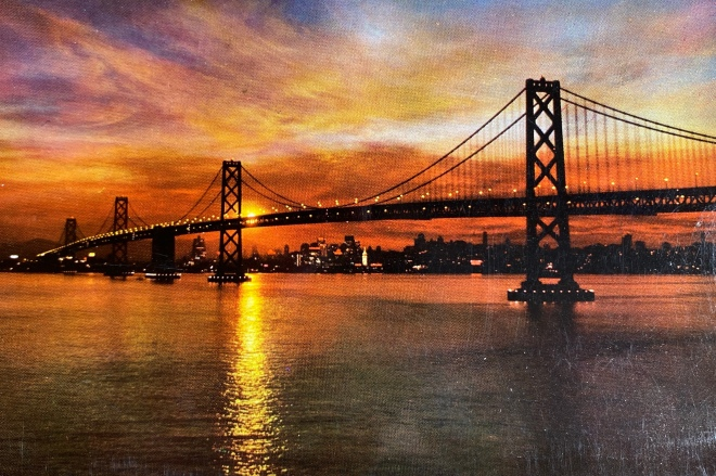 Mike Roberts iconic photograph of the San Francisco Bay Bridge