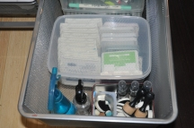 More clear kitchen bins store ink pads