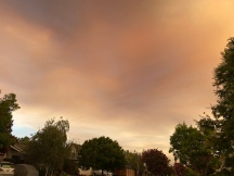 Neighborhood skies filled with smoke