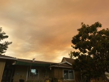 Smoky skies over our home